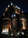 Chateau Frontanac in Quebec am Abend