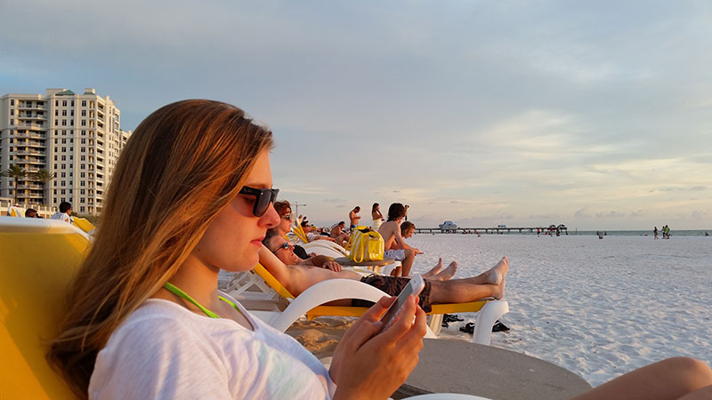 Julia am Strand in Clearwater Beach