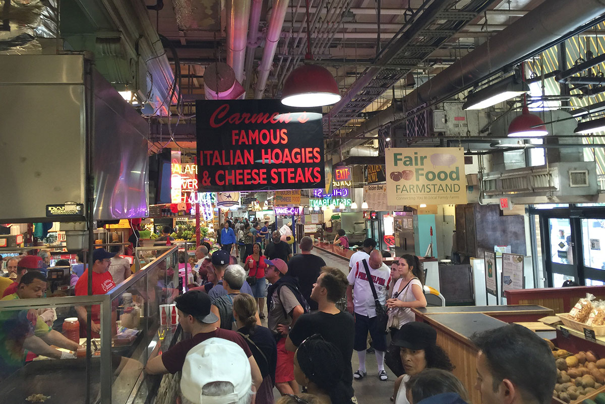 Der Reading Terminal Market unweit der City Hall in Philadelphia