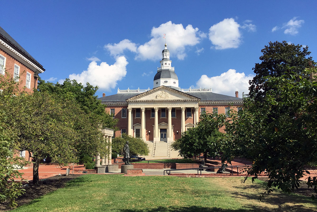 Das Maryland State House in Annapolis